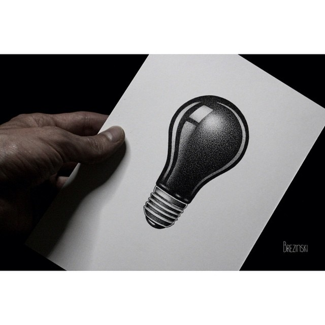 Light Bulb Tatto Design