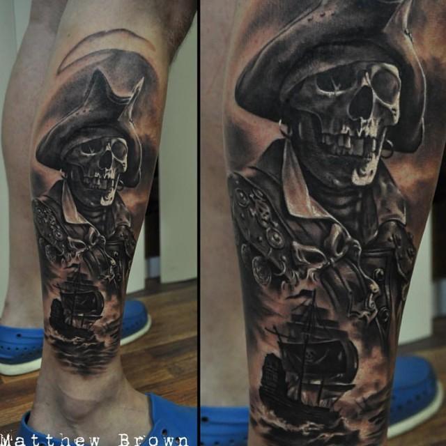 Pirate Skeeton Tattoo