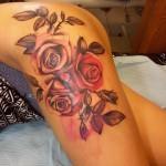 Roses on Hip Tattoo