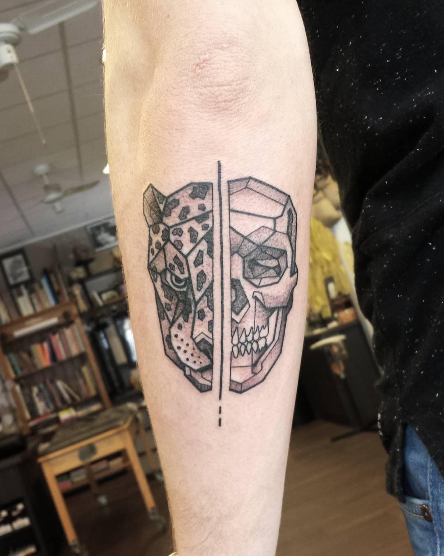 Skull and Leopard Tattoo