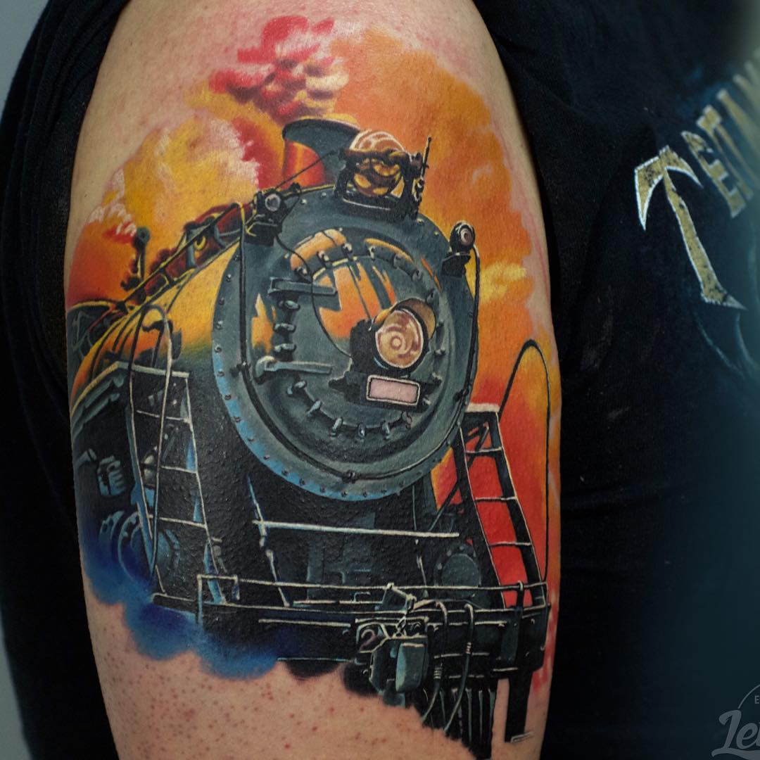 Steam Train Tattoo