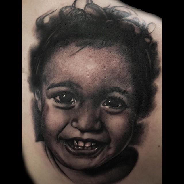 Tattoo Baby Portrait
