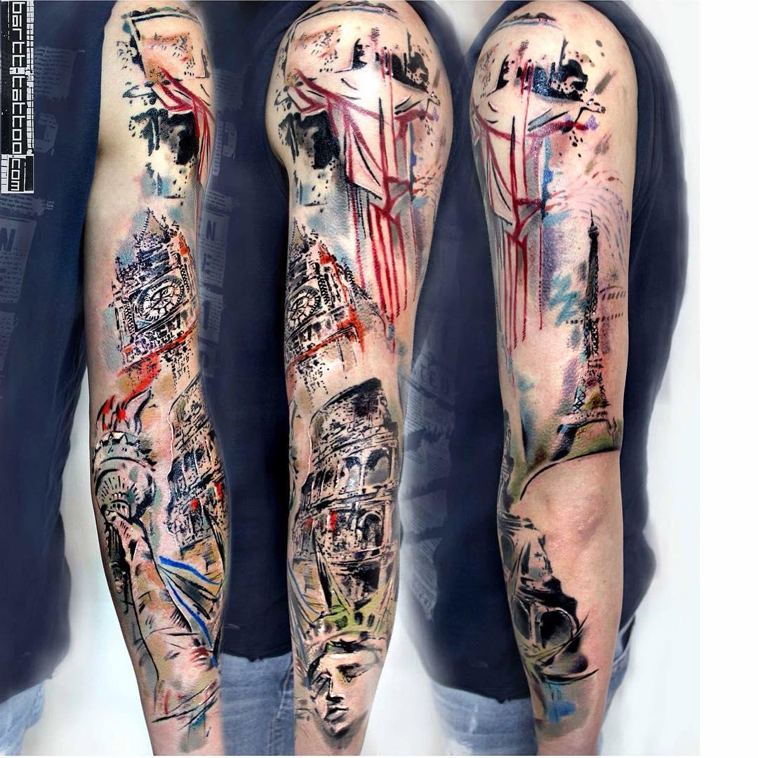 Travelling Tattoo Sleeve