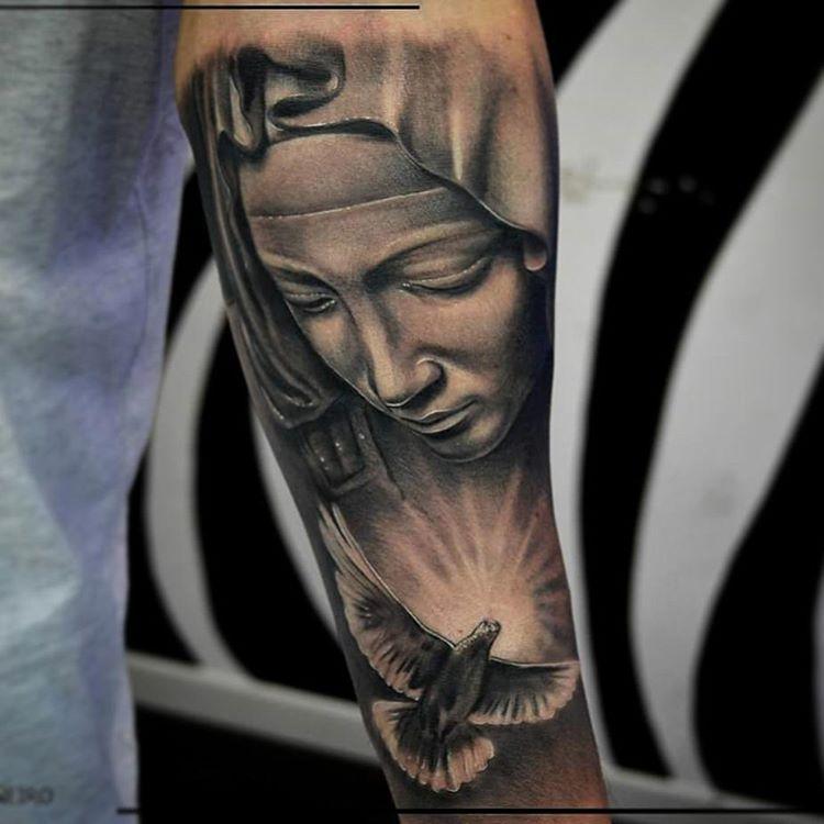 Virgin Mary Tattoo Sleeve