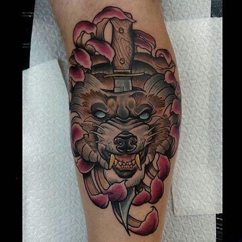 Wolf Head Tattoo