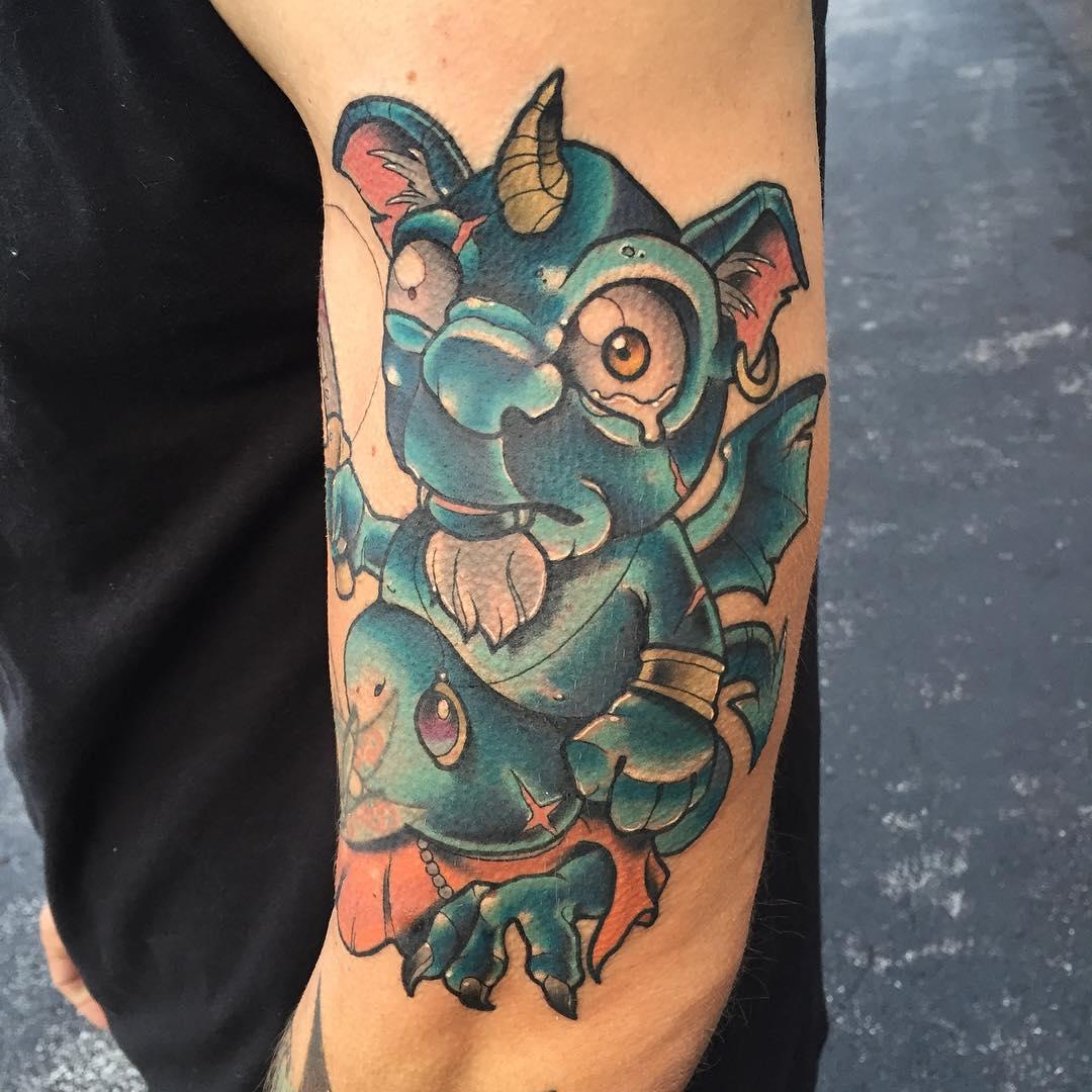 Chubby Sad Imp Tattoo