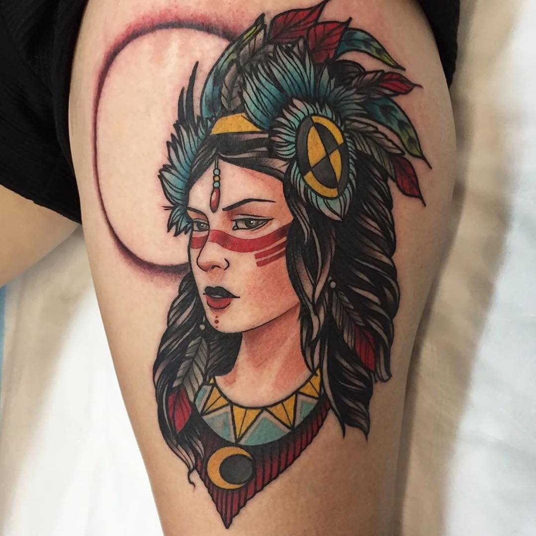 Indian Woman Tattoo