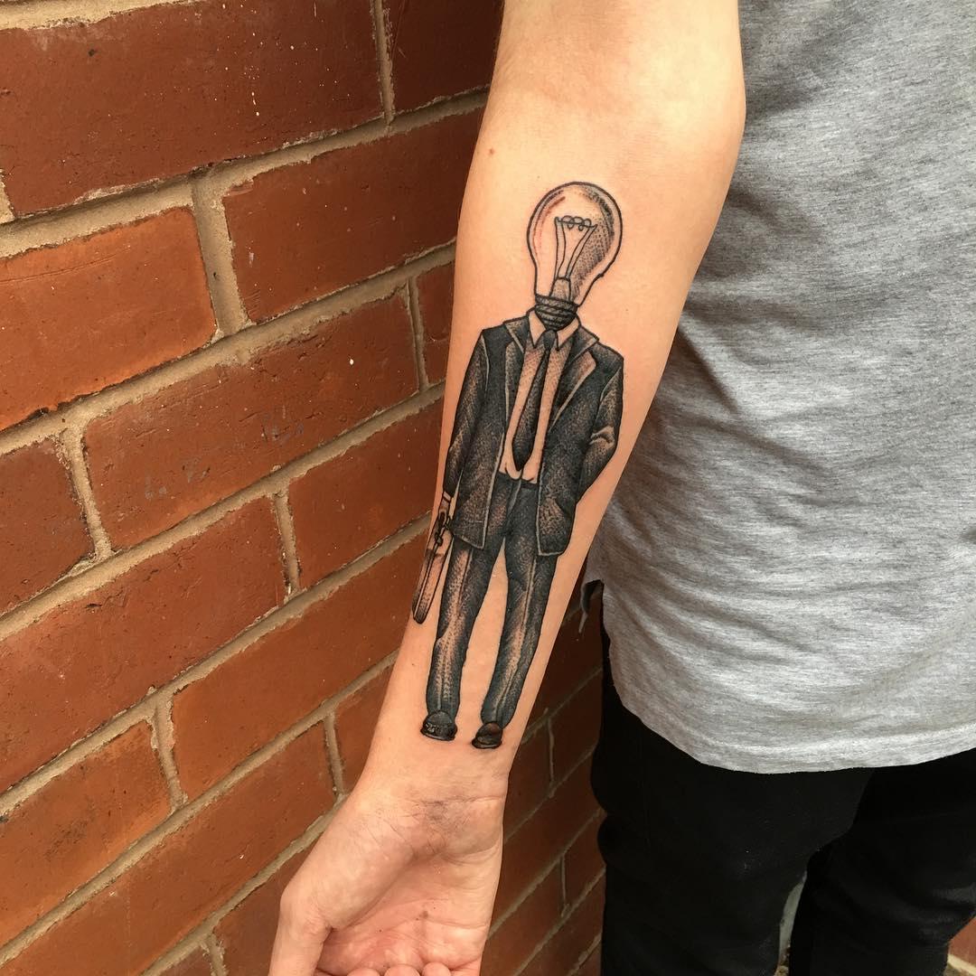 Light Bulb Tattoo