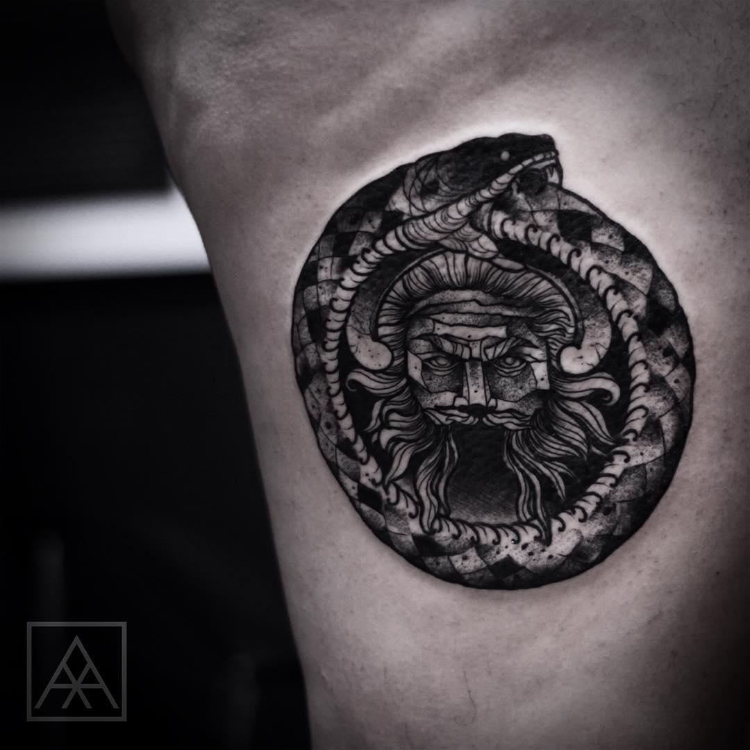 Ouroboros Snake Tattoo