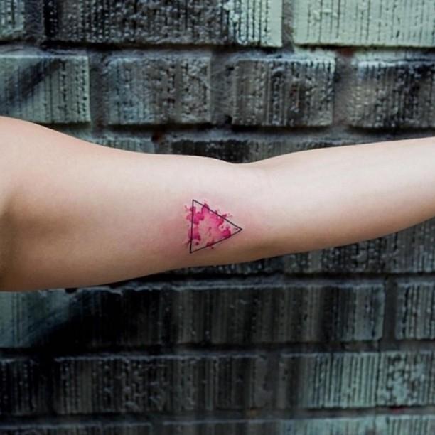 Pink Triangle Tattoo