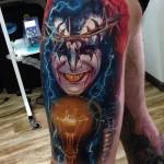 Rock Kiss Tattoo