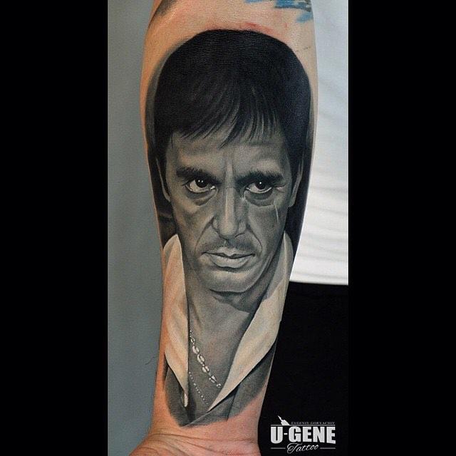 Tony Montana Tattoo Portrait
