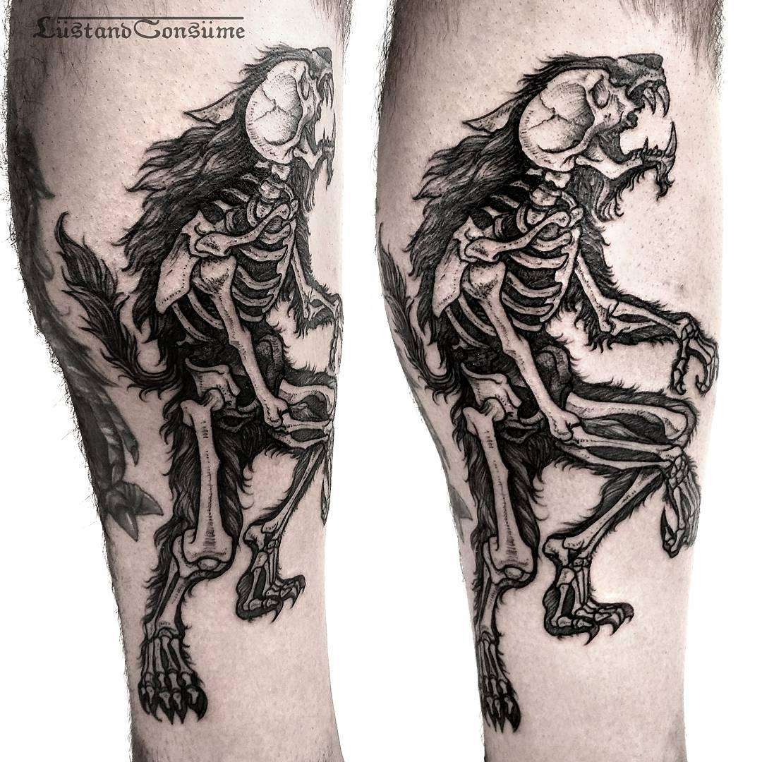 Warewolf X-Ray Tattoo