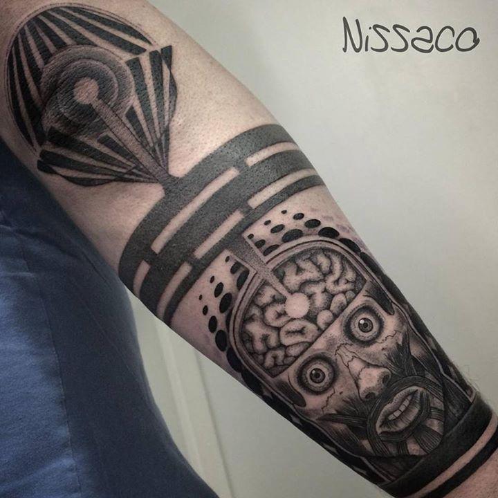 Blackwork Insane Tattoo on Arm