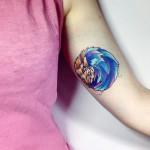 Inner Arm Hedgehog Tattoo
