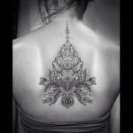 Lotus Back Tattoo