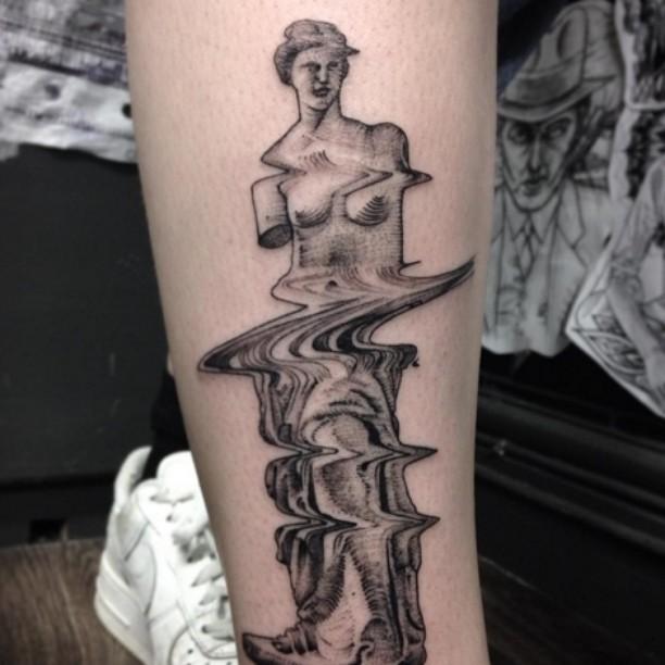 the statue of the Venus De Milo bent like tv problems