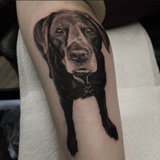 realistic Tattoo Dog
