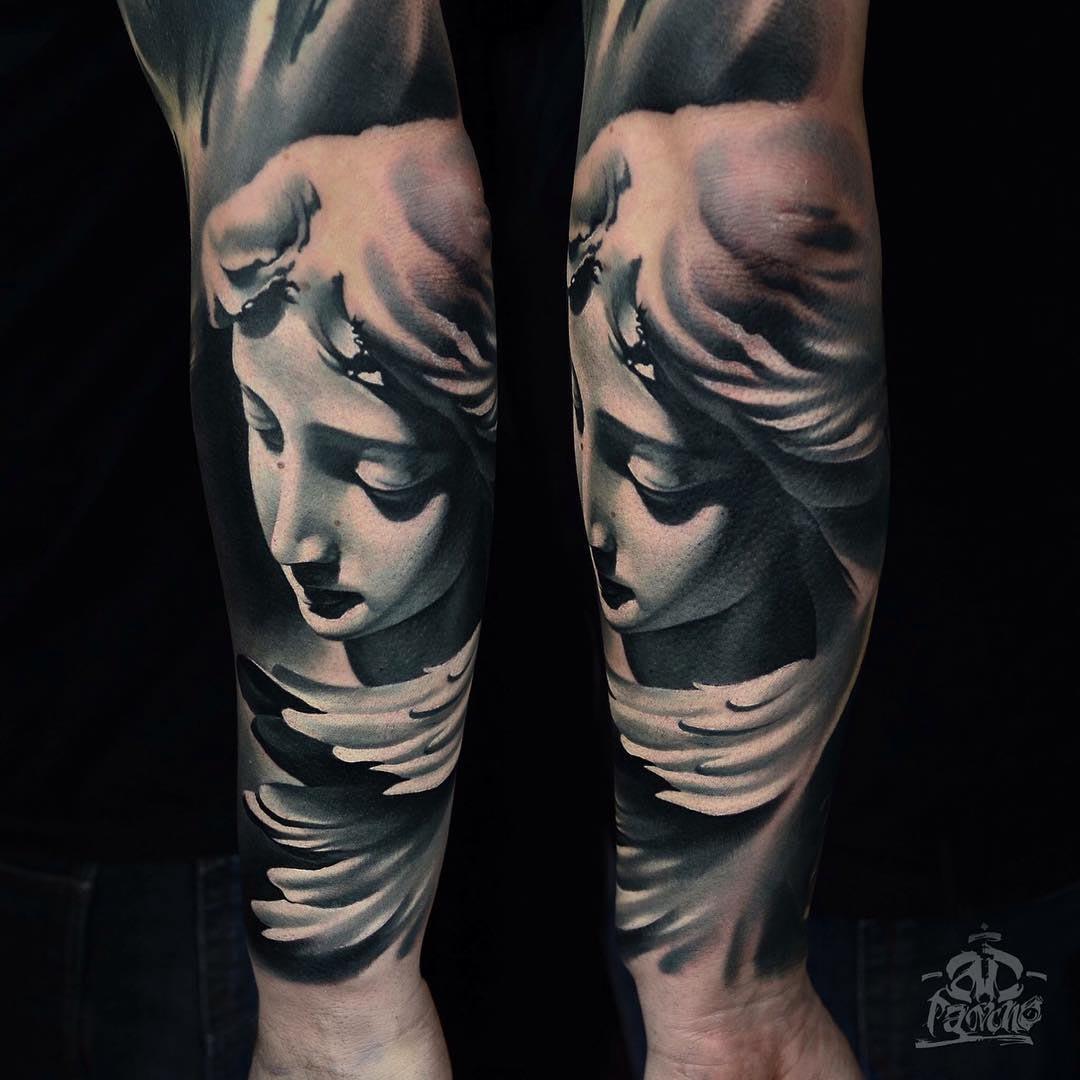 forearm 3D tattoo sleeve