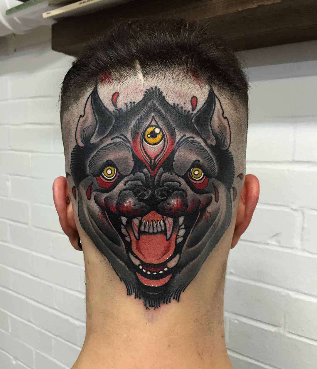 third eye tattoo on back of the hand