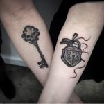 Key and Lock Tattoo