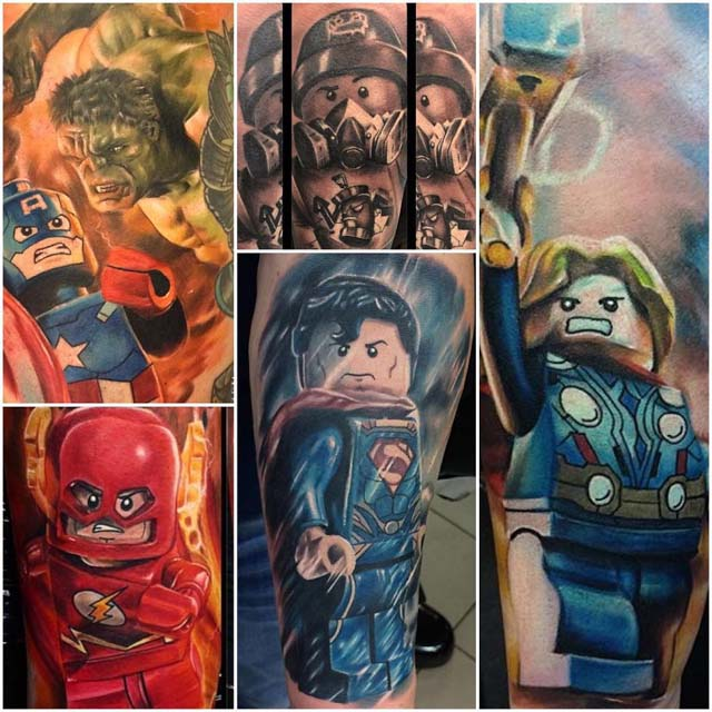 cool tattoos of lego figures