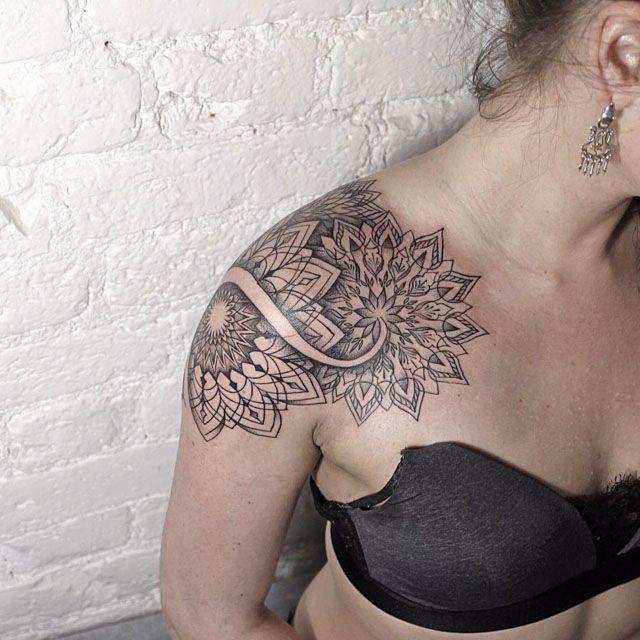 mandala tattoos on shoulder