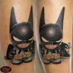 Angry Batman Tattoo Kid