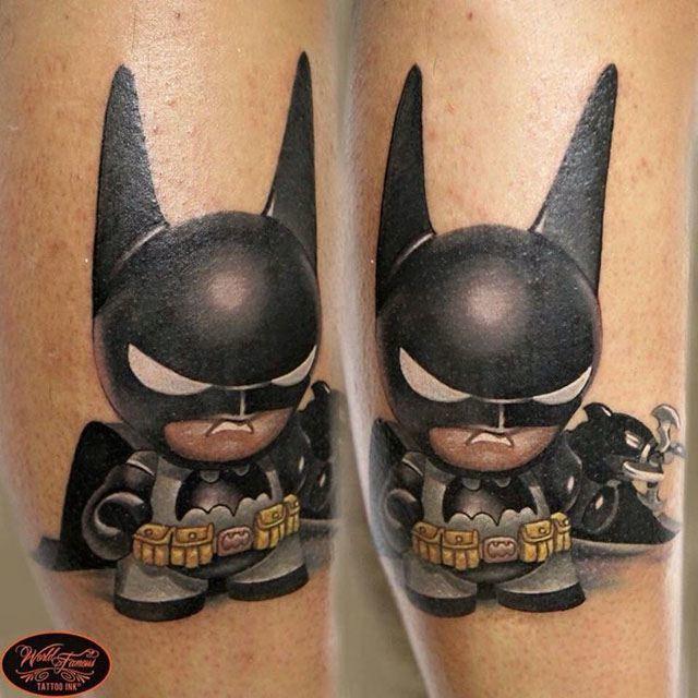 cute kid batman tattoo