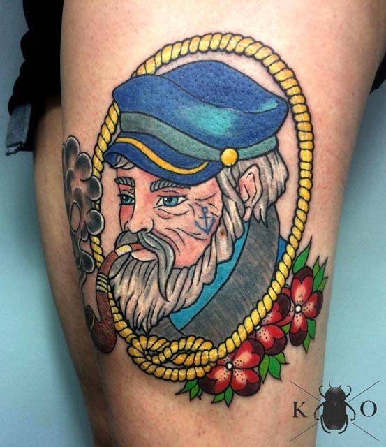 nautical tattoo captain