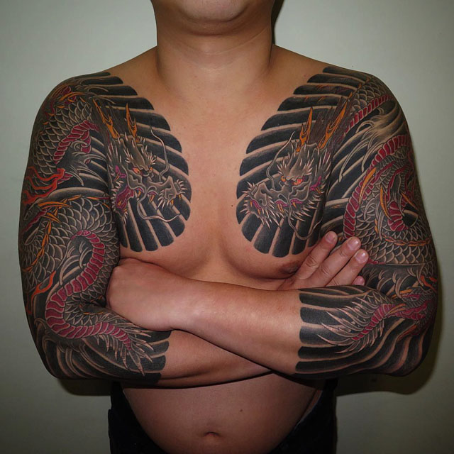 japanese dragon tattoo sleeves
