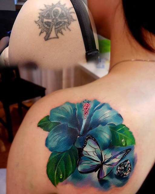 cover up tattoo flower