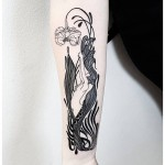 Flower Stem Girl Tattoo