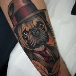 Gentleman Pug Tattoo