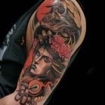 Girl and Skeleton Tattoo