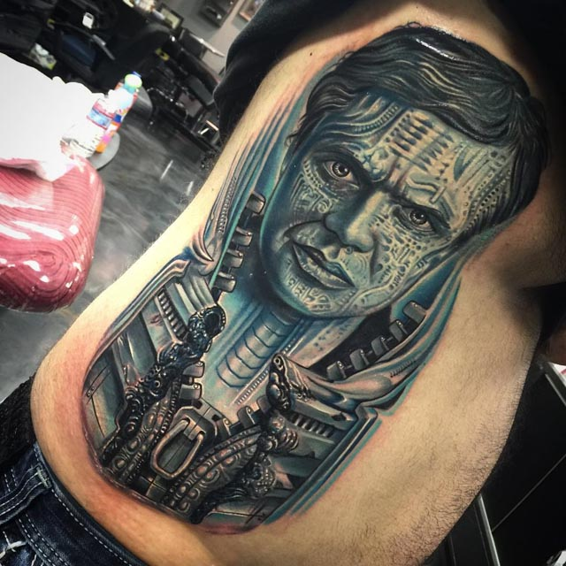 tribute tattoo of Hans Giger