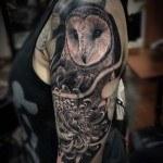 Owl Shoulder Tattoo