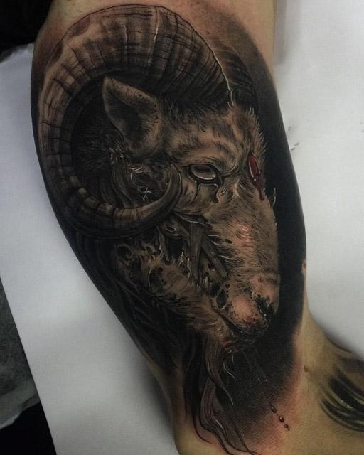 dead ram tattoo