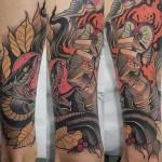 Serpent and Forbidden Fruit Tattoo