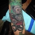 Shabby Teddy Bear Tattoo