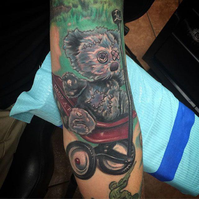 ragged teddy bear tattoo