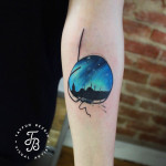 Skyline of Istanbul Tattoo