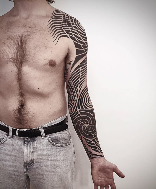 sleeve tattoo tribal