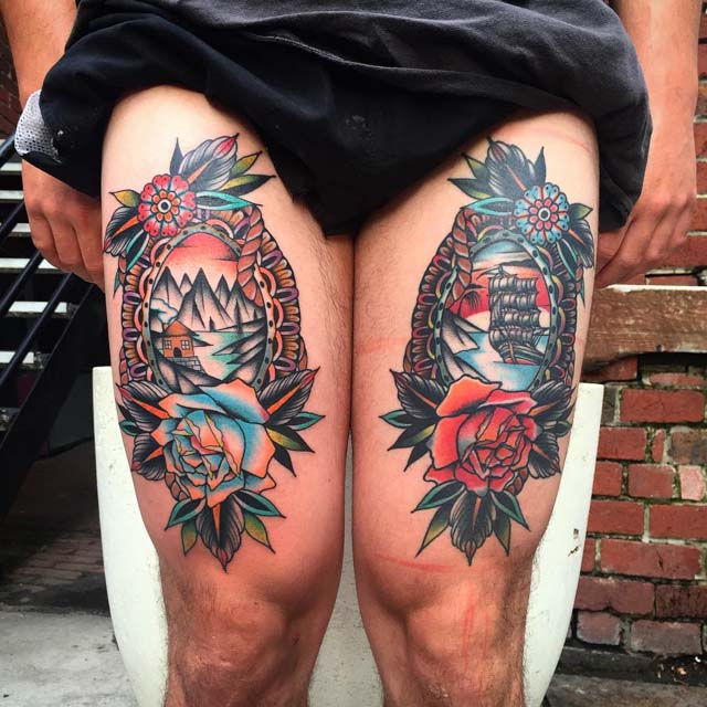 nautical tattoo designs on thighs
