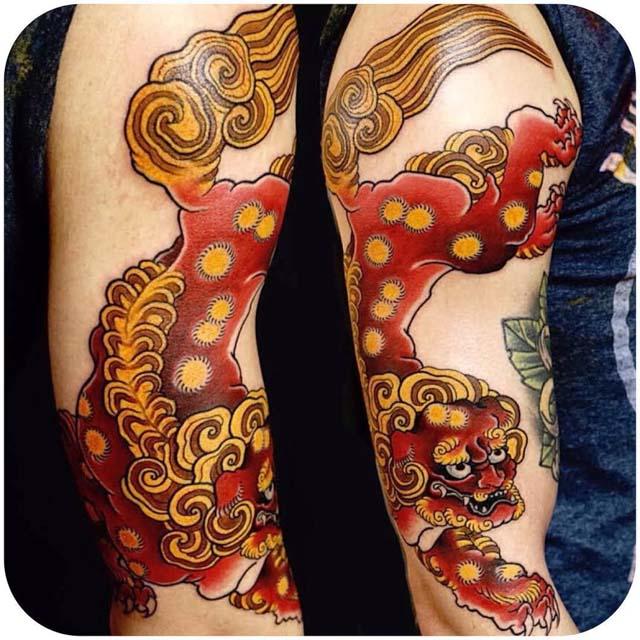 demonic lion japanese tattoo