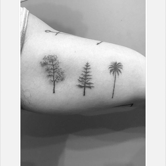 Different trees tattoos