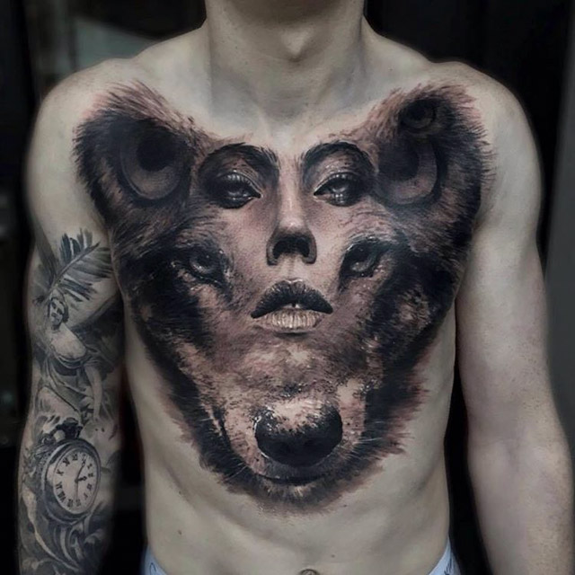 chest tattoo personality