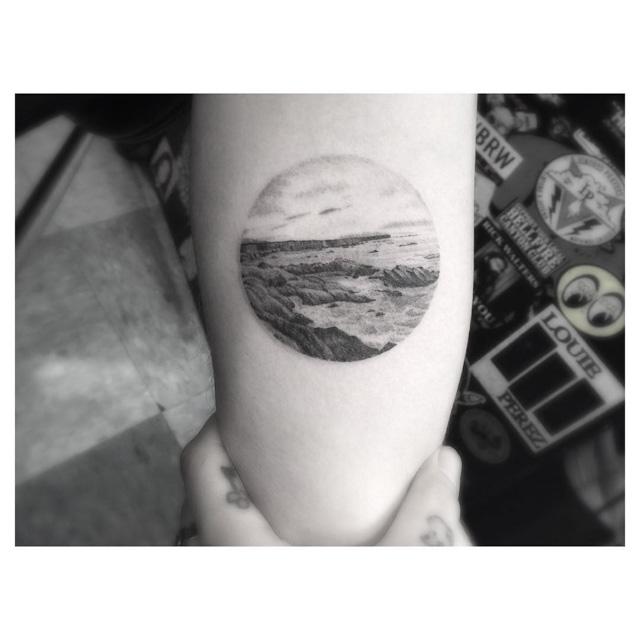 Tattoo Sea Landscape
