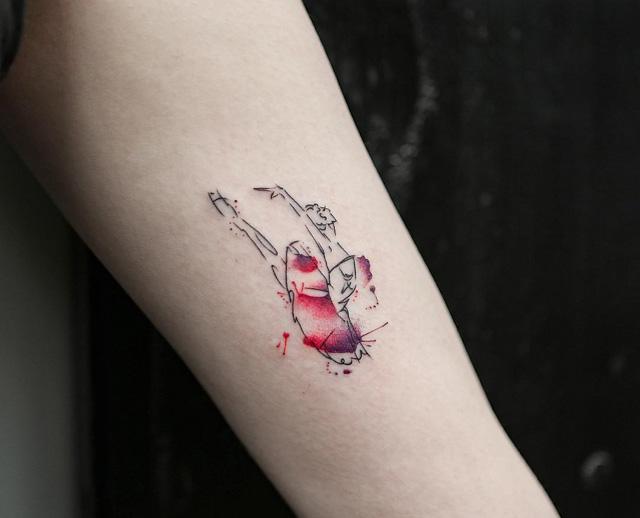 ballet dancer small tattoo