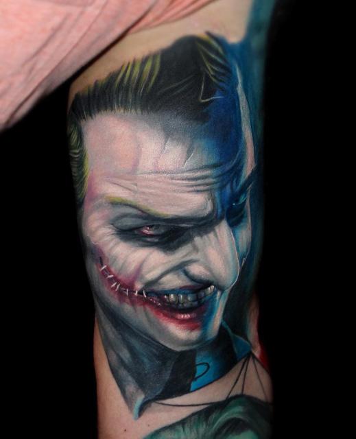 tattoo portrait of Joker